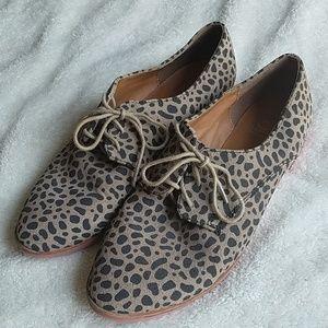 Dolce Vita Cheetah Print Oxford Loafers